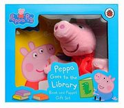 Peppa Pigg Goes to the Library Book and Puppet Gift Set, Carle Eric